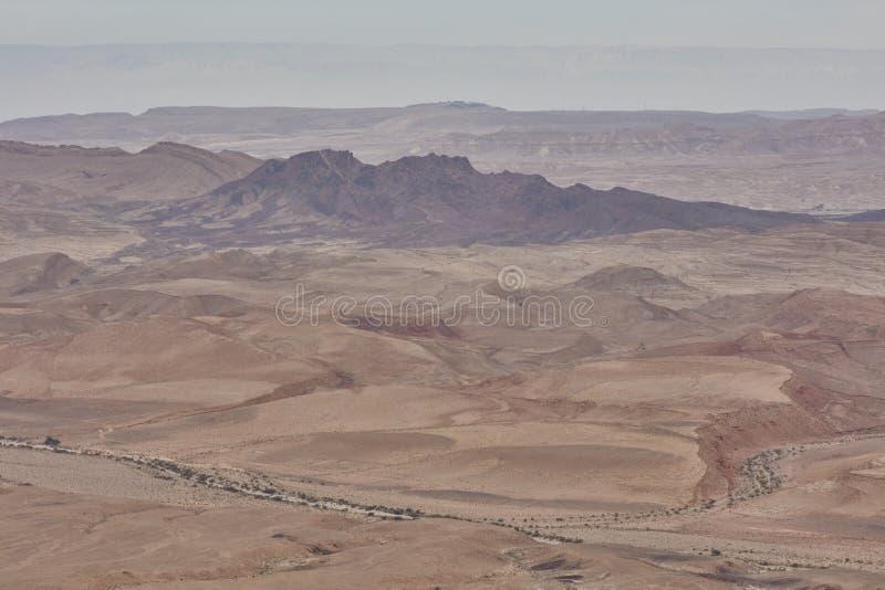 Горный вид Negev стоковые изображения rf