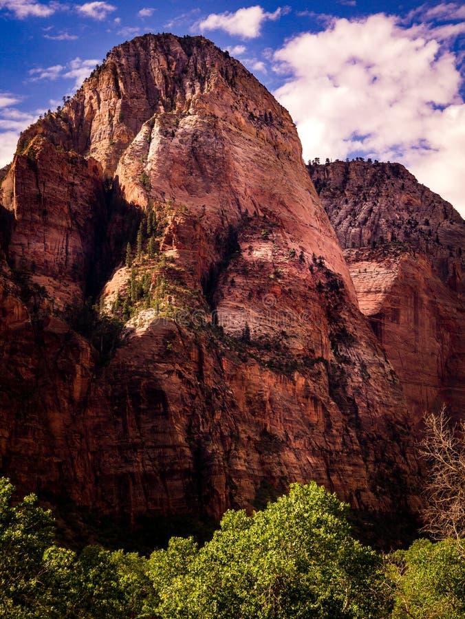 Горный пик, каньон Сиона, Юта стоковые изображения rf