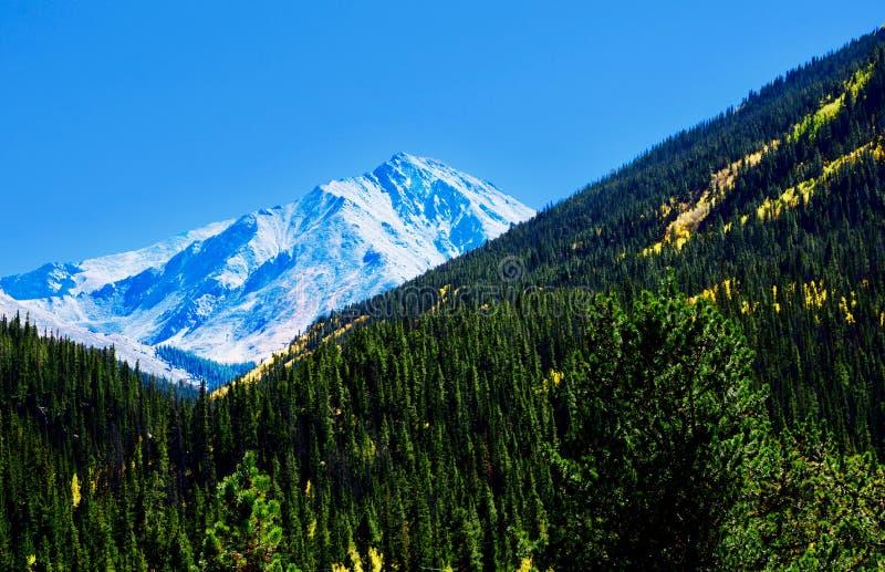 Горный пик Колорадо около Денвера стоковая фотография rf