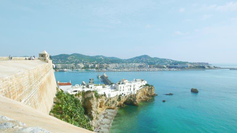 Городища цитадели городка Ibiza стоковая фотография rf