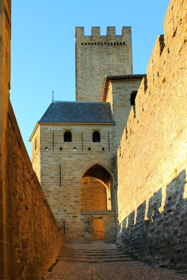 Городище Каркассона замка стоковые изображения rf