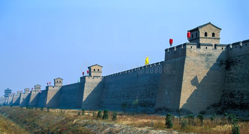 Городище старого города Pingyao - Китая стоковые изображения