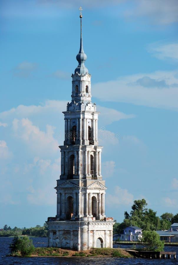 городок башни kalyazin sunken стоковые фото