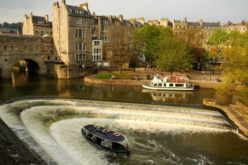 городок ванны исторический стоковая фотография