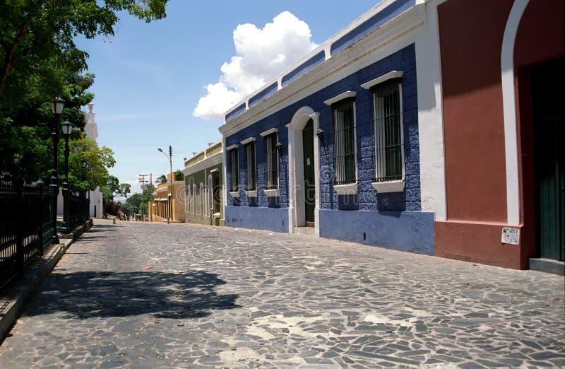 городок Венесуэла ciudad bolivar старый стоковое фото rf