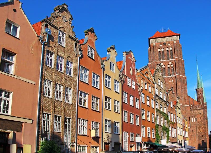 Городок Гданьск старый, Польша стоковая фотография rf
