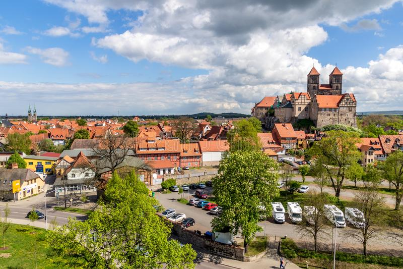 Городок Германия Кведлинбурга стоковое изображение rf