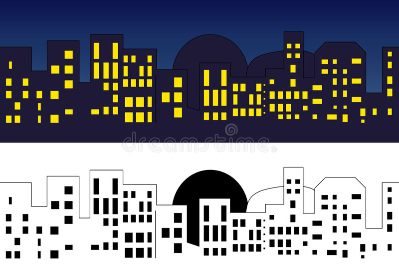 городок горизонта бесплатная иллюстрация