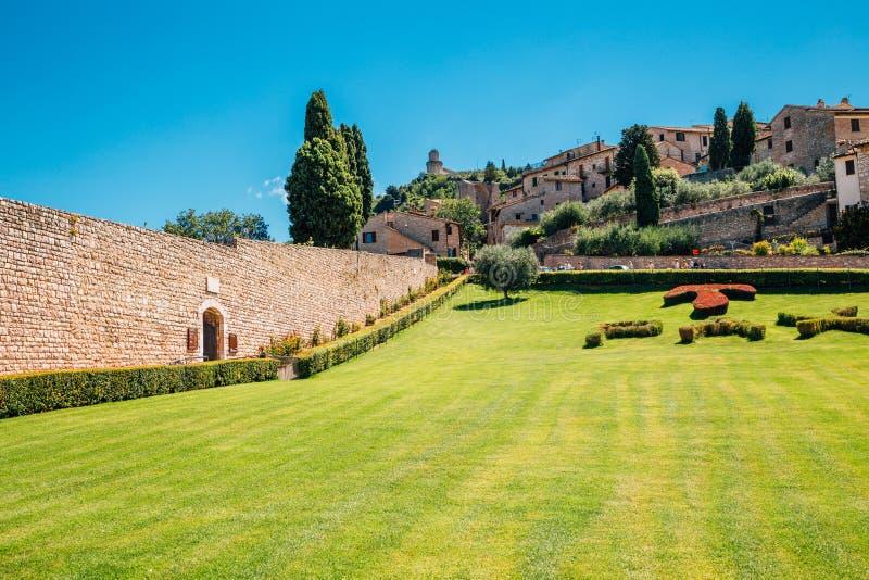 Городок древнего города Assisi старый на Assisi, Италии стоковая фотография