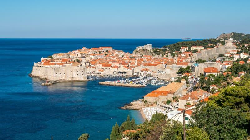 Городок Дубровника старый, Далмация, Хорватия стоковое изображение rf
