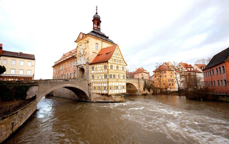 городок залы bamberg Германии старый стоковые изображения rf