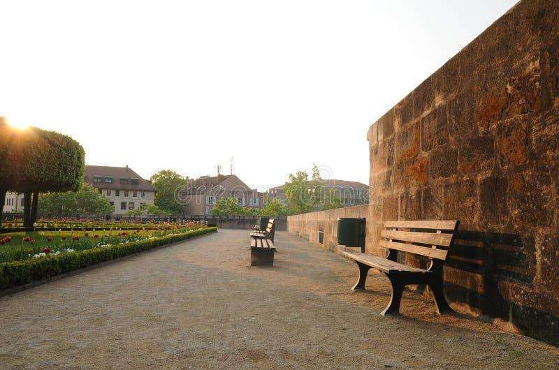 городок захода солнца стоковая фотография