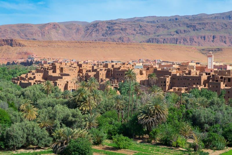 Городок и оазис Tinerhir, Марокко стоковое изображение rf