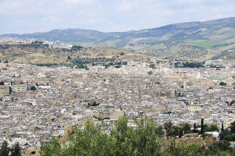 городок короля Марокко s Африки fez стоковое фото rf