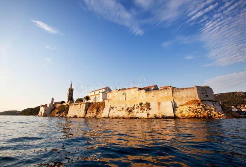 городок крепости средневековый стоковое фото rf