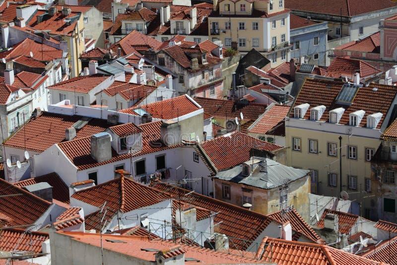 Городок Лиссабона старый стоковое изображение