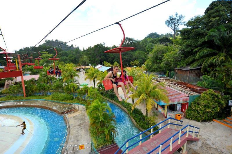 Городок озера Bukit Merah стоковые фото