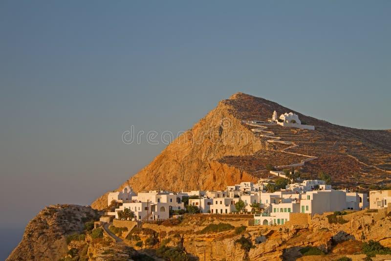 городок острова folegandros chora стоковое фото rf