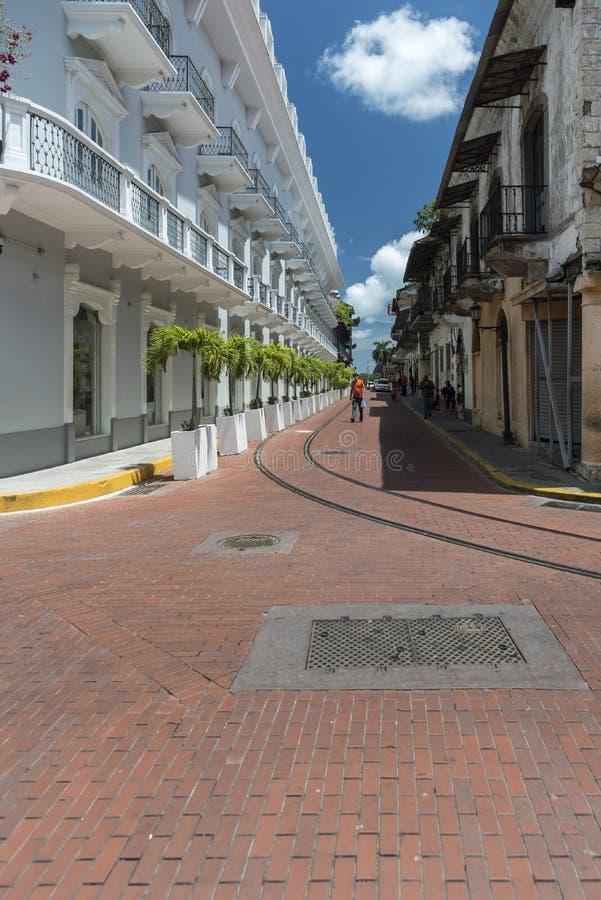 Городок Панама (город) центрального ¡ Panamà гостиницы старый стоковое фото rf