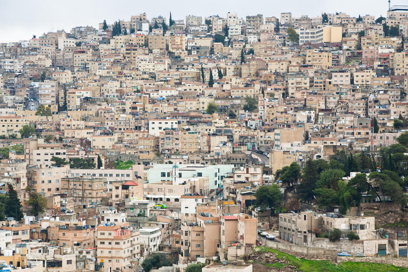 городок панорамы amman старый стоковая фотография rf