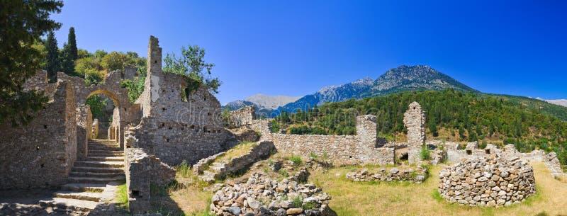 городок руин mystras Греции старый стоковое фото rf