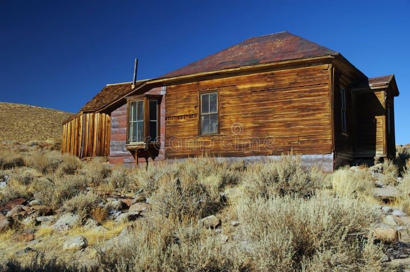 городок США добычи золота привидения bodie западный стоковая фотография rf
