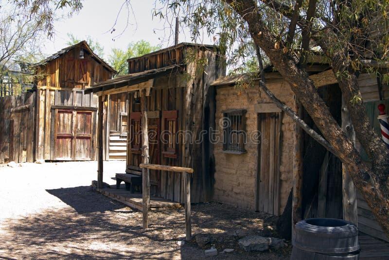 городок США ковбоя старый на запад одичалый стоковое изображение