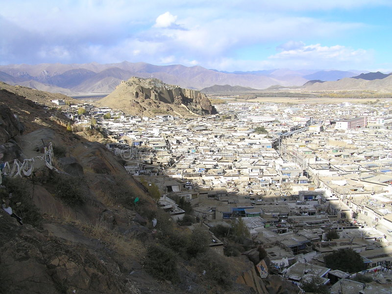 городок Тибета стоковая фотография