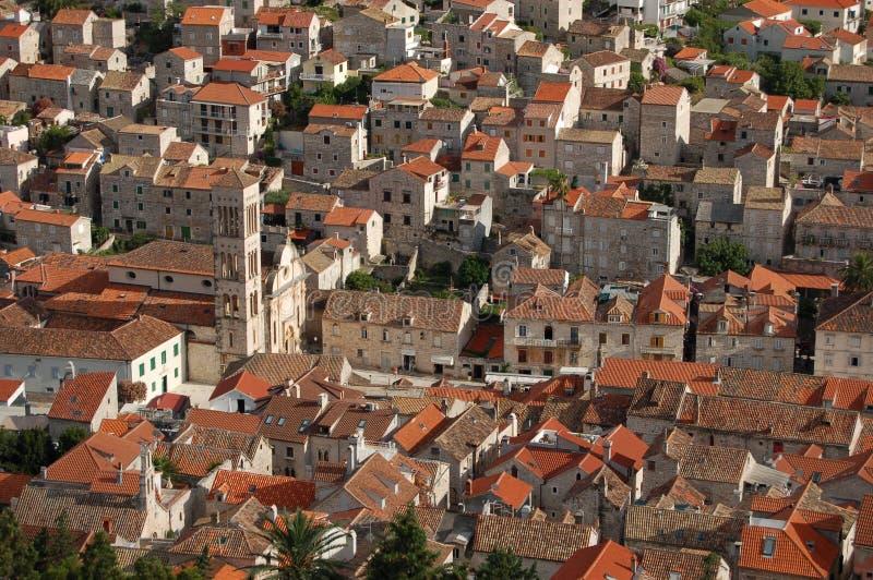городок Хорватии hvar стоковое изображение rf