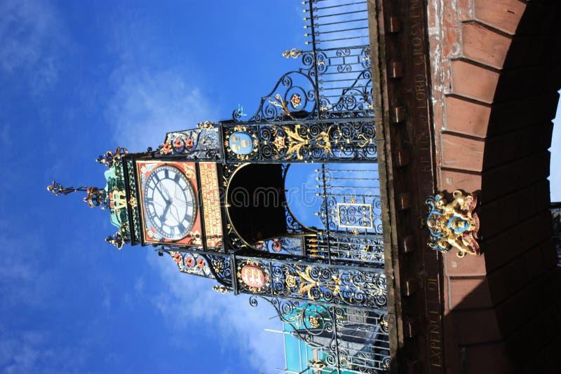городок часов chester стоковая фотография