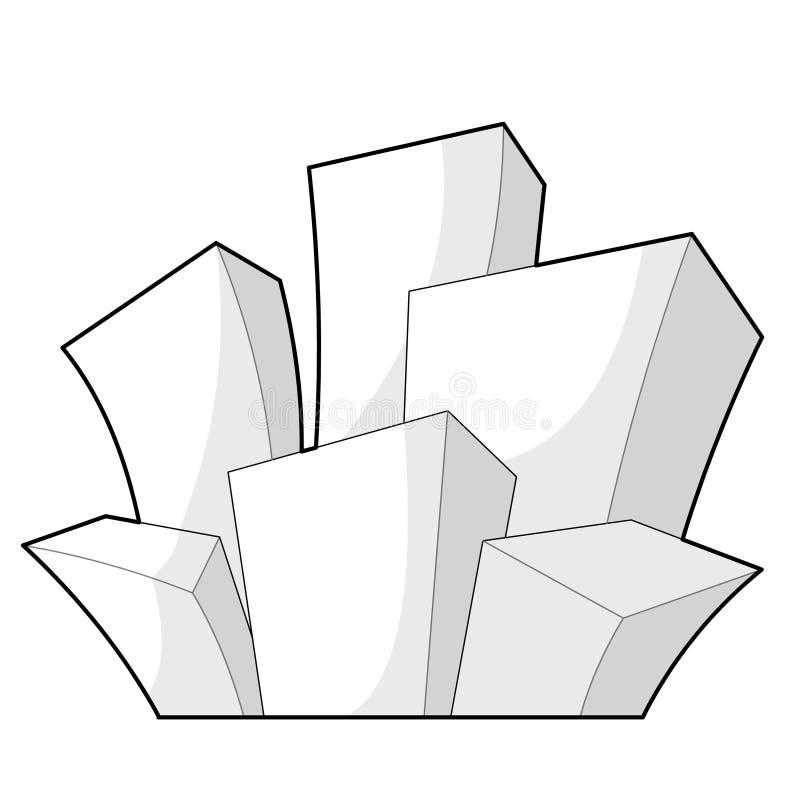 городок шаржа иллюстрация штока