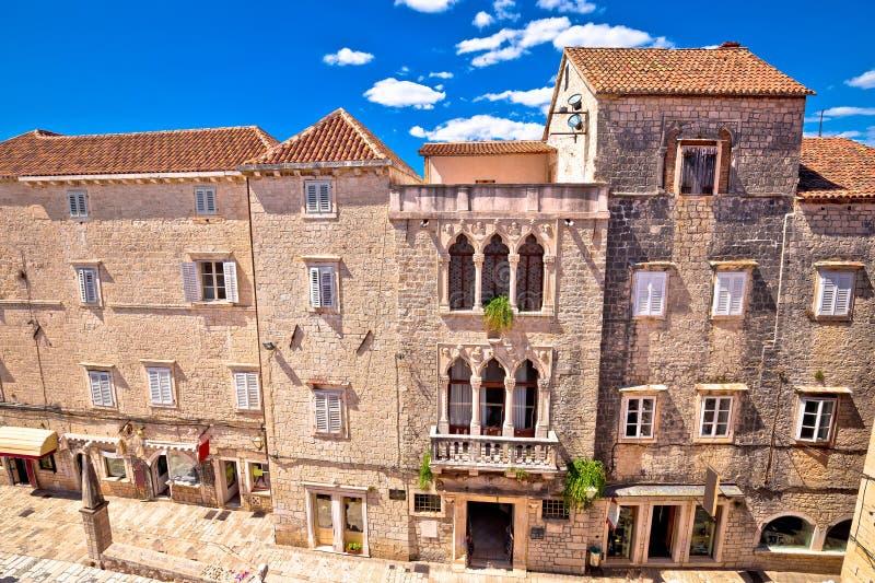 Городок ЮНЕСКО взгляда архитектуры Trogir исторического стоковое фото