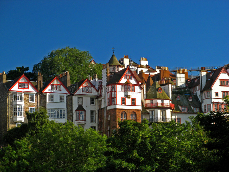 городок 01 edinburgh старый стоковое изображение rf