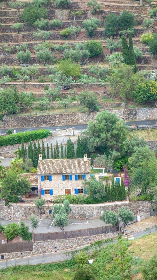 Городок Deià в острове Мальорка, Испании стоковое изображение rf
