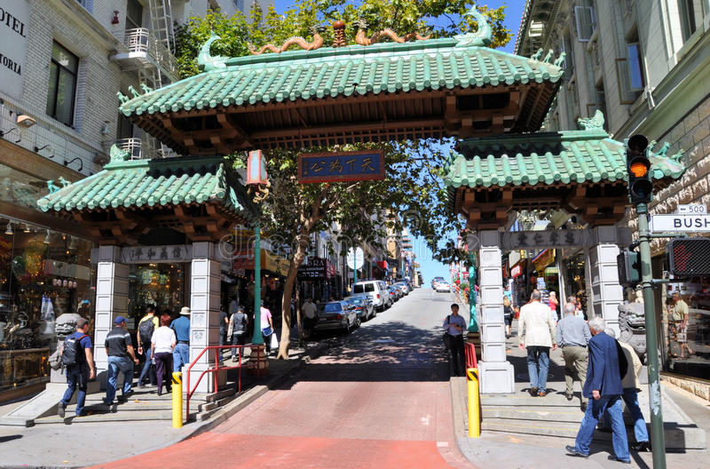 городок francisco san фарфора стоковая фотография