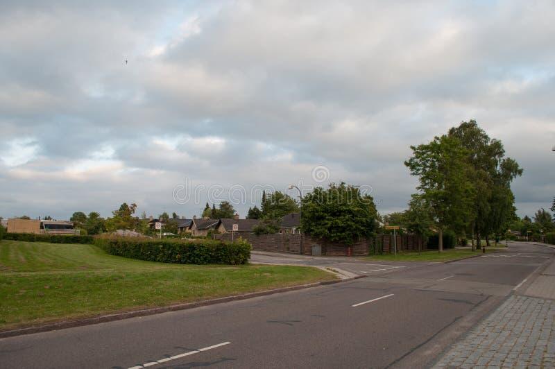 Городок Herlev в Дании стоковое фото rf