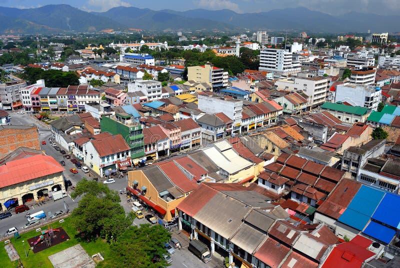 Городок Ipoh старый - вид с воздуха стоковое изображение