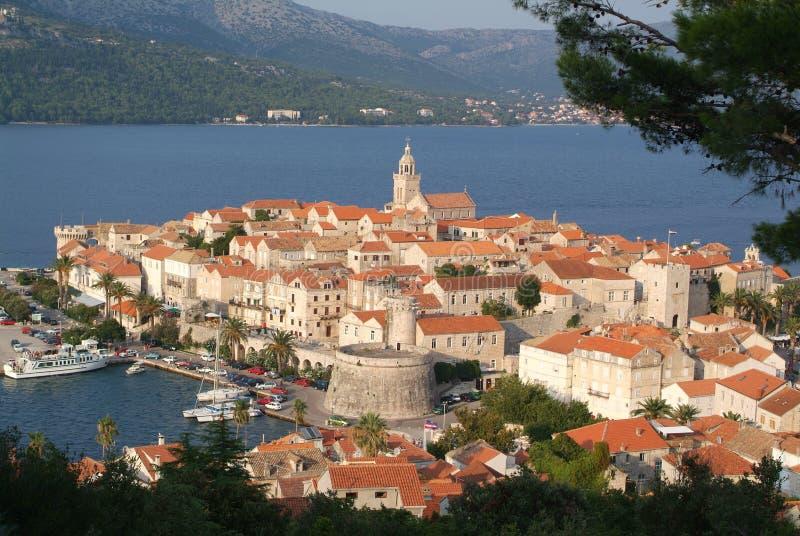 городок korcula Хорватии стоковые изображения