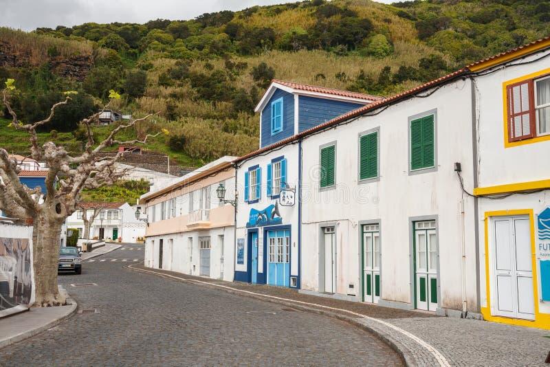 Городок Lajes делает Pico, Азорские островы стоковая фотография