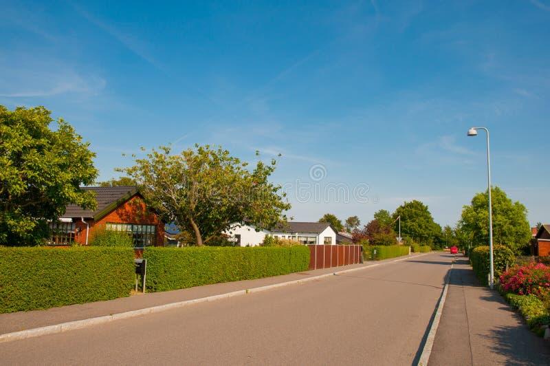 Городок Lendemarke в Дании стоковое изображение