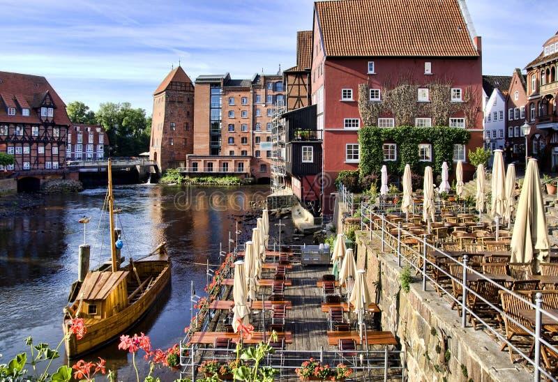 городок lueneburg Германии исторический стоковые изображения rf