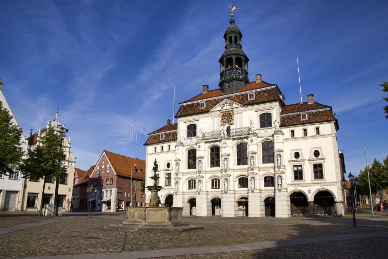 городок lueneburg залы исторический стоковая фотография rf