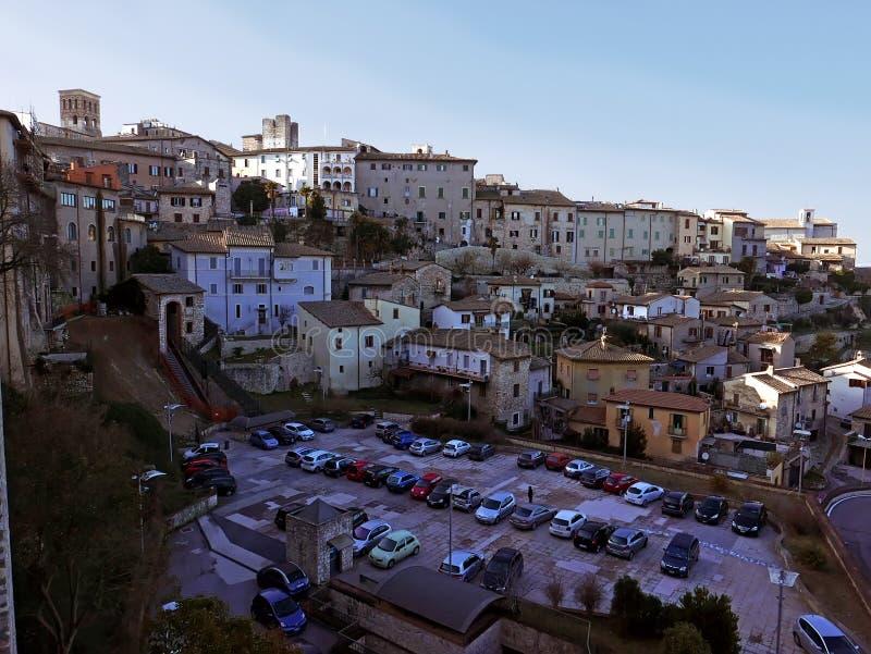 Городок Narni старый в Италии стоковые фотографии rf