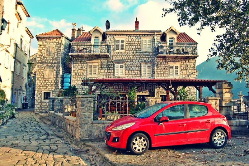 Городок Perast старый стоковое фото rf