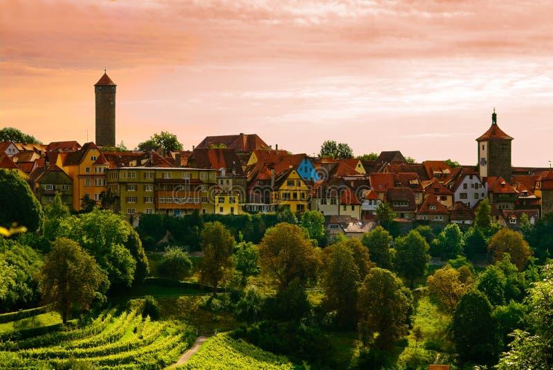 городок Rothenburg Стоковое Изображение