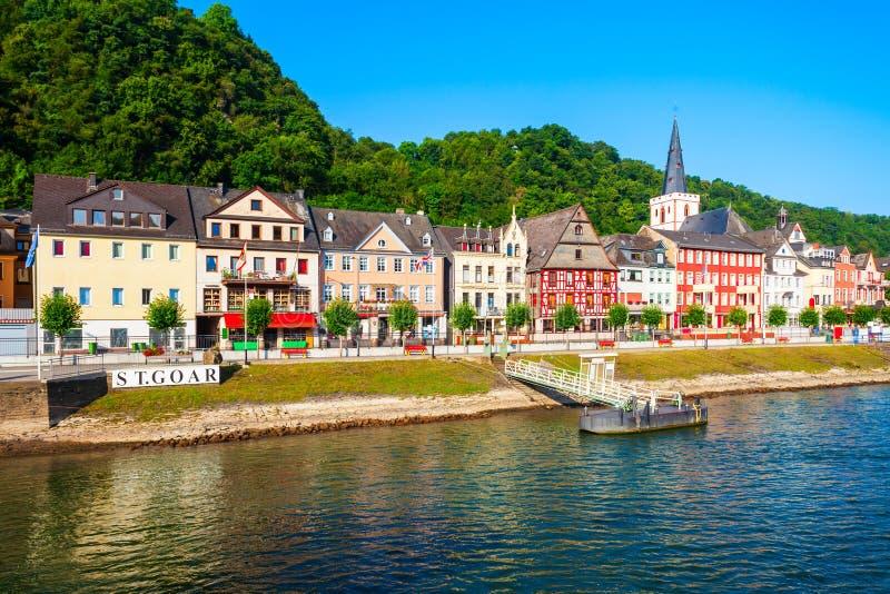 Городок Sankt Goar в Германии стоковая фотография