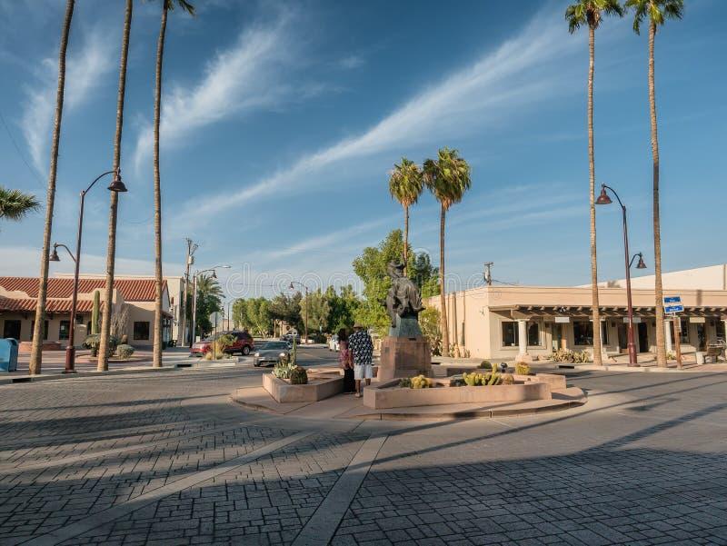 Городок Scottsdale старый, центр искусства, Феникс стоковая фотография rf