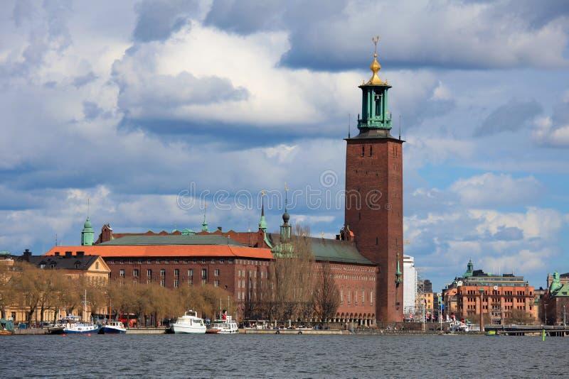 городок stockholm залы стоковое фото