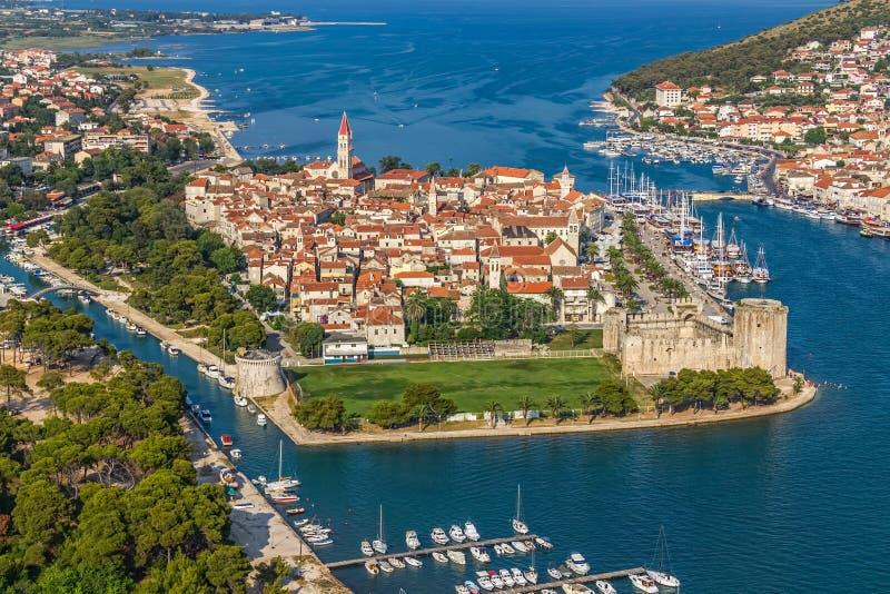 Городок Trogir старый стоковое фото rf