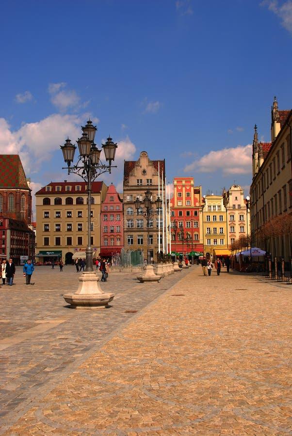 Городок Wroclaw старый стоковая фотография rf